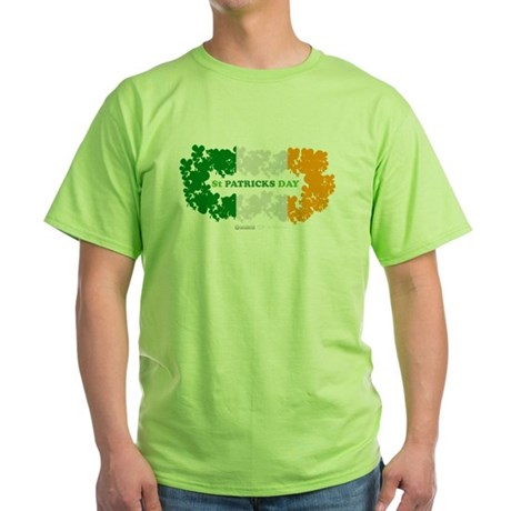 St Patrick's Day Reef Flag Green T-Shirt
