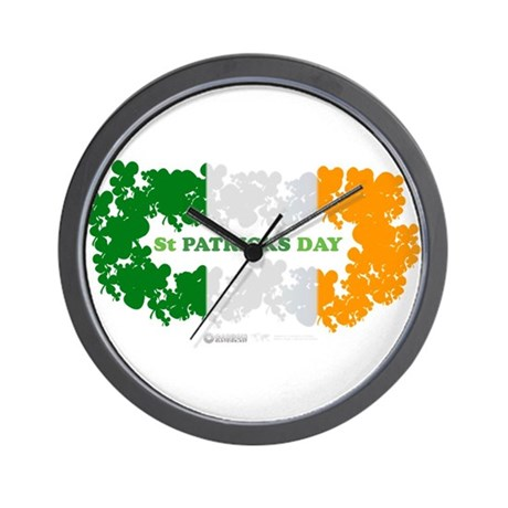 St Patrick's Day Reef Flag Wall Clock