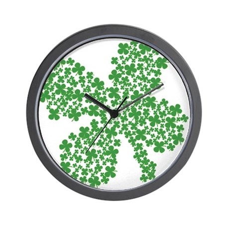 Clover Clovers Wall Clock