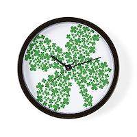 Clover Clovers Wall Clock