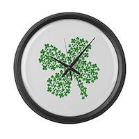 Clover Clovers Large Wall Clock