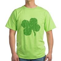 Emo Skull Clover Green T-Shirt