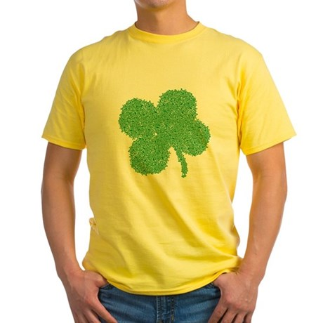 Emo Skull Clover Yellow T-Shirt