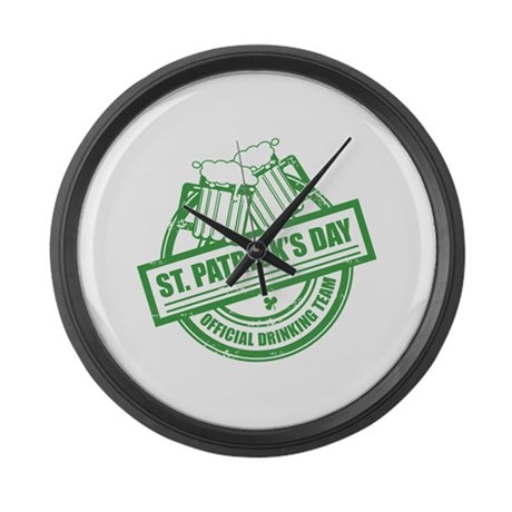 Official Drinking Team Stamp Large Wall Clock