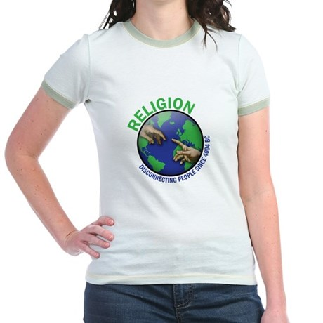 Religion diconnecting people Jr. Ringer T-Shirt