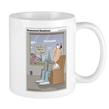 The bird feeder is empty! Mug