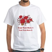 Red Roses and Red Text. Shirt