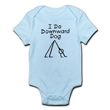 Black Downward Dog Infant Bodysuit