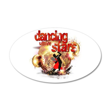 Dancing with the Stars Disco 38.5 x 24.5 Oval Wall
