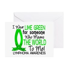 Means World To Me 1 Lymphoma Shirts Greeting Cards