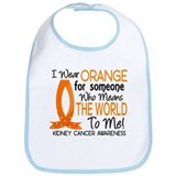 Means World To Me 1 Kidney Cancer Shirts Bib