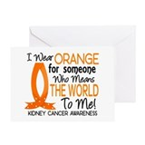 Means World To Me 1 Kidney Cancer Shirts Greeting