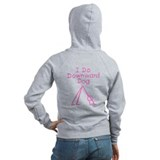 Pink Downward Dog Zip Hoodie