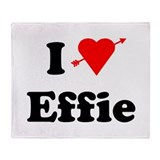 I Heart Love Effie Throw Blanket