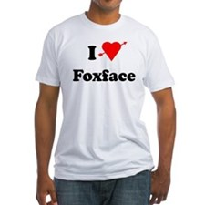 I Heart Love Foxface Fitted T-Shirt