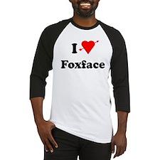I Heart Love Foxface Baseball Jersey