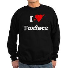 I Heart Love Foxface Sweatshirt (dark)