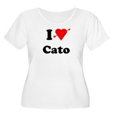 I Heart Love Cato Women's Plus Size Scoop Neck T-S