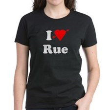 I Heart Love Rue Women's Dark T-Shirt