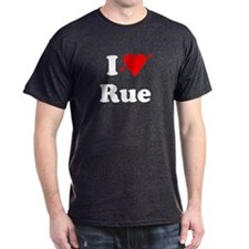 I Heart Love Rue Dark T-Shirt
