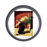 Circus Dogs Wall Clock