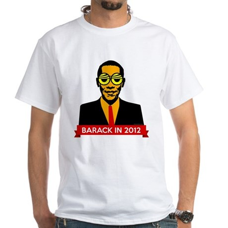 Pop Art Obama White T-Shirt