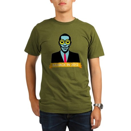 Pop Art Obama Organic Mens Dark T-Shirt