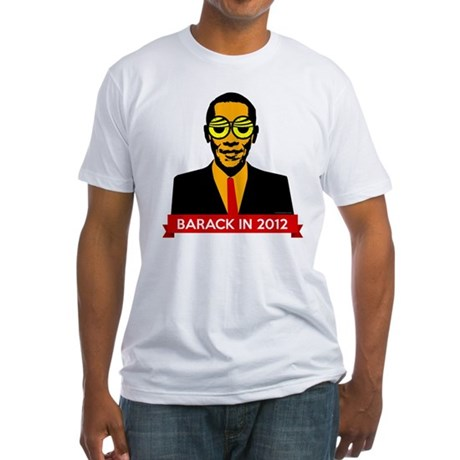Pop Art Obama Fitted T-Shirt