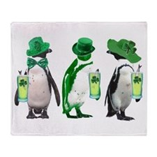 Irish penguins Throw Blanket