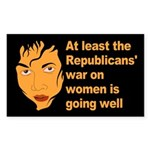 Angry Republican War on Women Sticker 10 pack