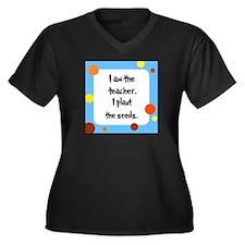 Teacher Seuss Lorax inspired Women's Plus Size V-N