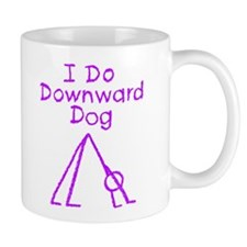 Purple Downward Dog Mug