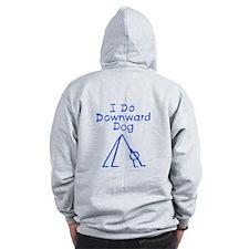 Blue Downward Dog Zip Hoodie