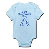 Blue Downward Dog Infant Bodysuit