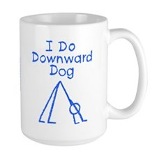 Blue Downward Dog Mug