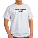 AIRCRAFT TECHNICIANS Rule! Ash Grey T-Shirt
