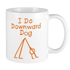 Orange Downward Dog Mug