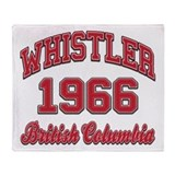 Whistler 1966 Collegiate Throw Blanket