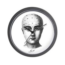 Phrenology Wall Clock
