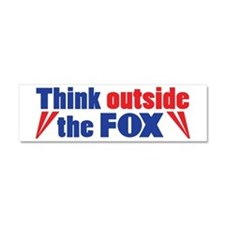 Think Outside the Fox Car Magnet 10 x 3