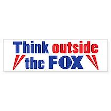 Think Outside the FOX Bumper Bumper Sticker