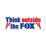 Think Outside the FOX Bumper Car Sticker