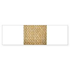 Neutral Woven Raffia Design Bumper Sticker