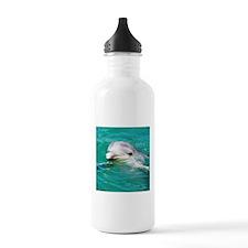 Dolphin in Caribbean Blue Wat Water Bottle