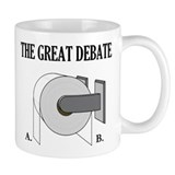 The Great Toilet Paper Debate Small Mugs