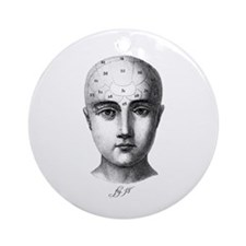 Phrenology Ornament (Round)