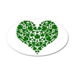 Shamrock Heart 20x12 Oval Wall Decal