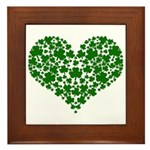 Shamrock Heart Framed Tile
