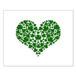 Shamrock Heart Small Poster