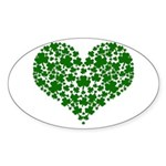 Shamrock Heart Sticker (Oval)